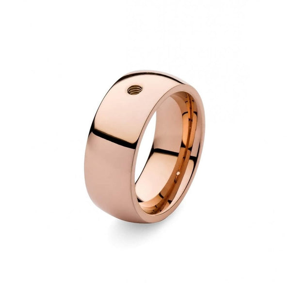 Qudo Rose Gold Broad Ring