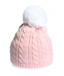 Light Pink Cable Knit Hat
