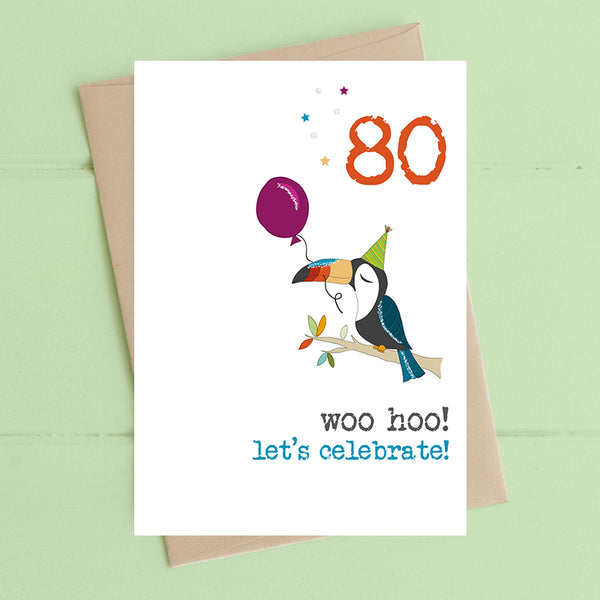 80 Birthday Card