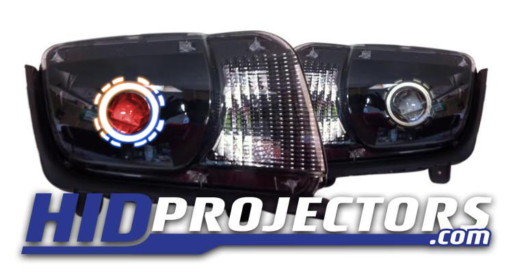 09-14 Chevy Camaro Headlights with Monster Shrouds