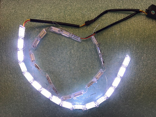 Sequential Switchback Crystal LED strips - 24""