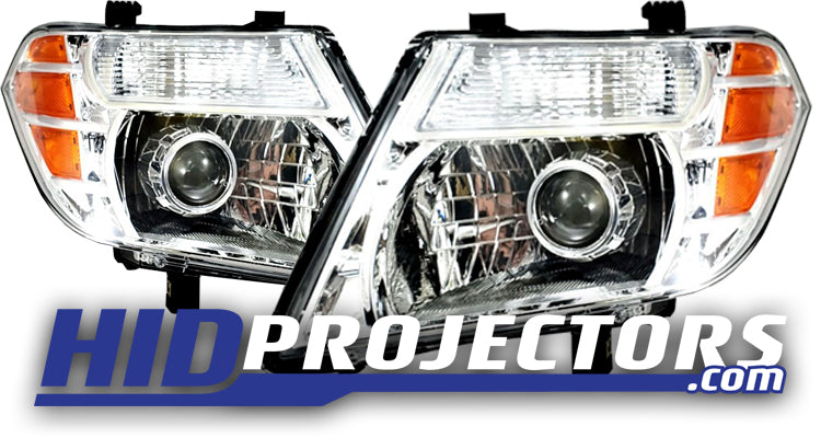 2008-2012 Nissan Pathfinder Headlights with Mini Gatling Shrouds