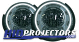 2017+ Jeep JK Stock LED Headlight Customization - Silver Bezels