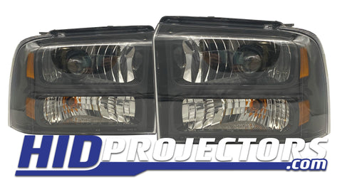 2005-2007 Ford F250 F350 Super Duty Excursion Projector Retrofit - Harley Davidson Housings