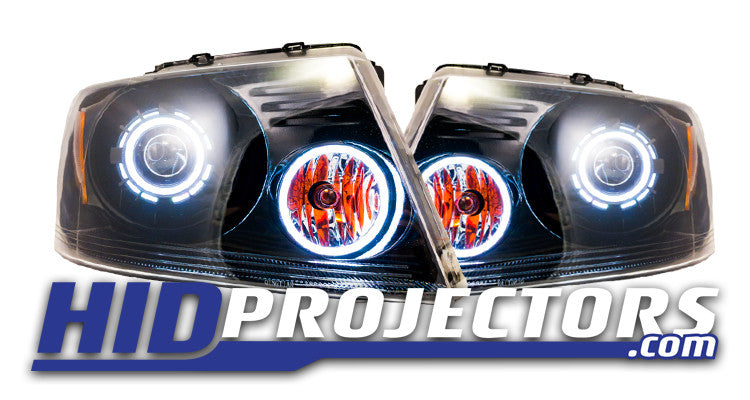 2004-2008 Ford F150 Projector Retrofit with Monster Shrouds