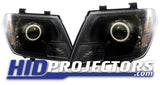 2009+ Nissan Frontier Headlights With Monster Shrouds