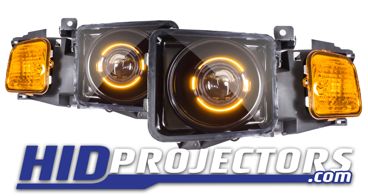 05'-10' Hummer H3 Headlights With Black Series Shrouds