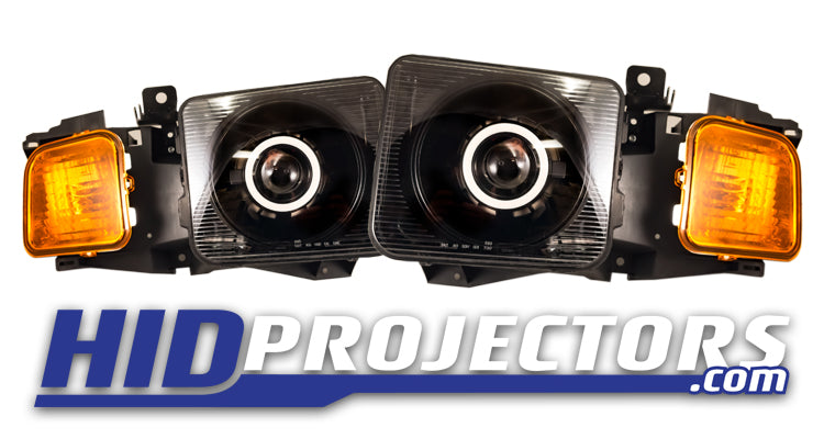 05'-10' Hummer H3 Headlights With Monster Shrouds - Clearance