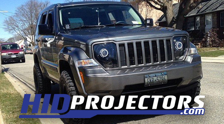 08-12 Jeep Liberty KK Headlights With Monster Shrouds