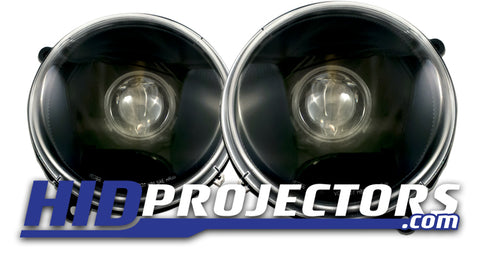 02-07 Jeep Liberty Headlights: Mini Gatling Shrouds