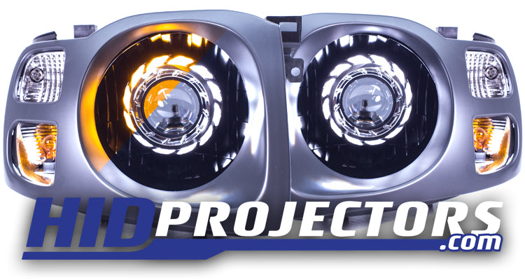 2002 -2004 Xterra Headlights With Turbine Shrouds