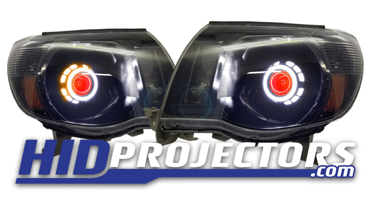 05'-11' Toyota Tacoma Headlights With Monster Shrouds
