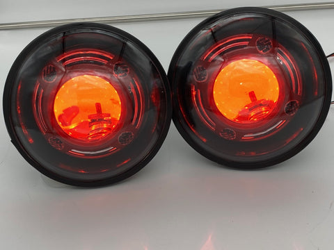 Custom NightTracker Headlights with Red Devil Eyes