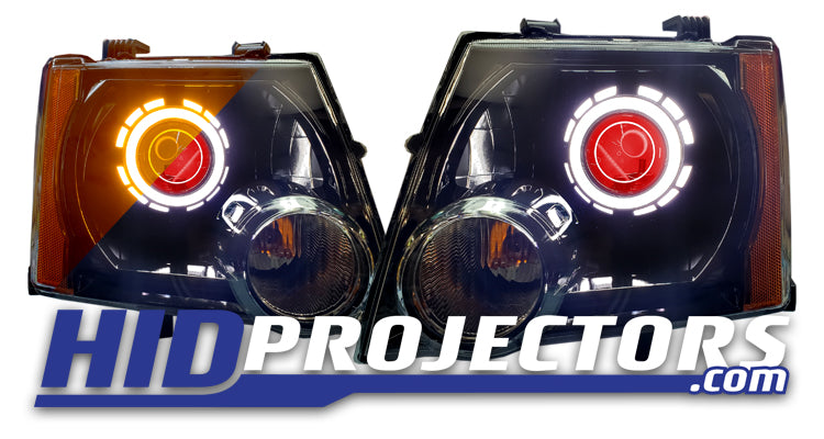 05+ Xterra Headlights With Monster Shrouds