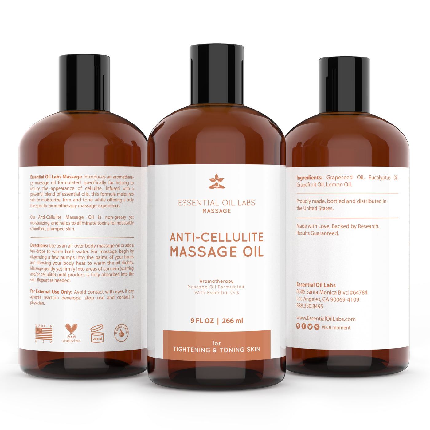 Anti-Cellulite Massage Oil, 9 oz.