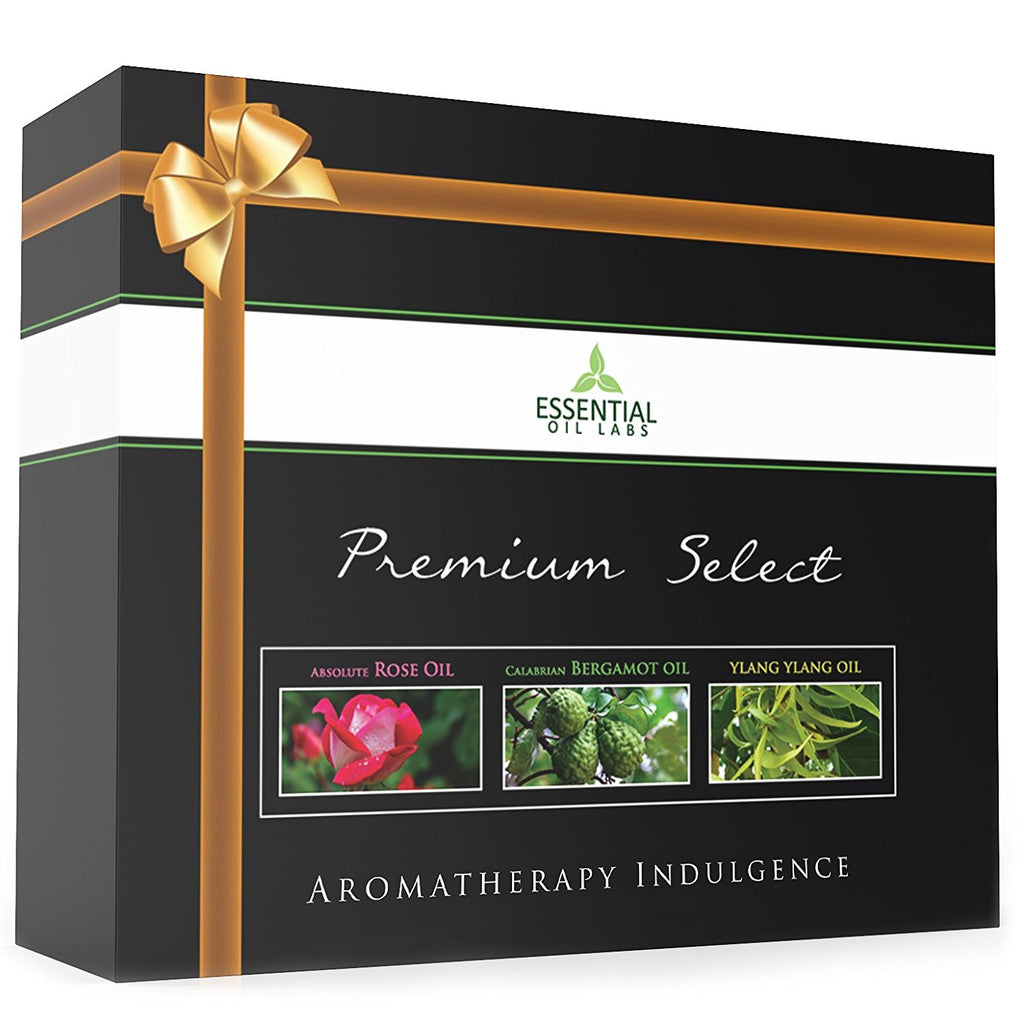 Essential Oils Gift Set - Ylang Ylang, Rose and Bergamot
