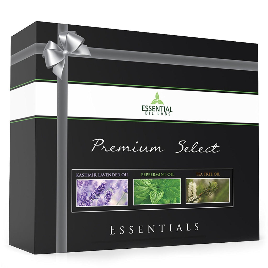 Essential Oils Gift Set - Peppermint, Tea Tree and Lavender