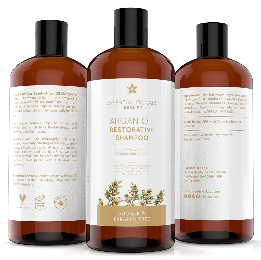 Restorative Moroccan Argan Oil Shampoo, 16 oz.