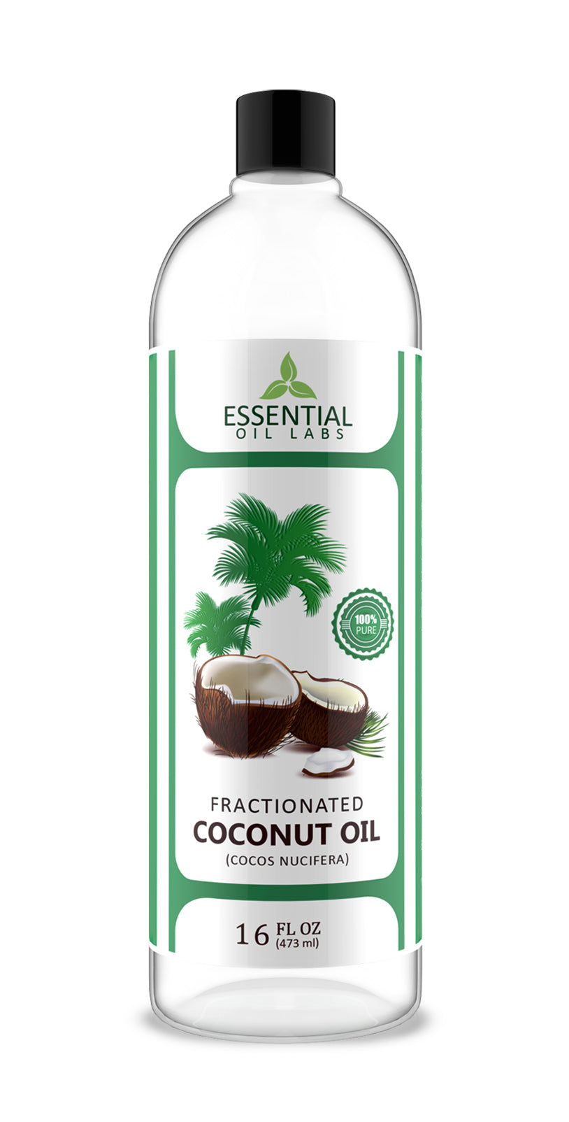 Fractionated Coconut Oil - 16 Oz  | Essential Oil Labs