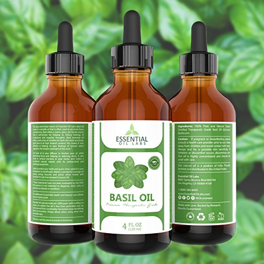 Basil Essential Oil - 4 oz.
