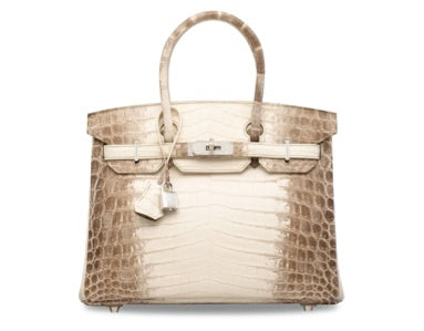 The most expensive bag ever sold at an auction was a 2014 Hermès  Himalaya  Birkin bag d60a92416dd6d