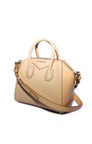 Antigona Mini Patent Leather Combo Bag Beige