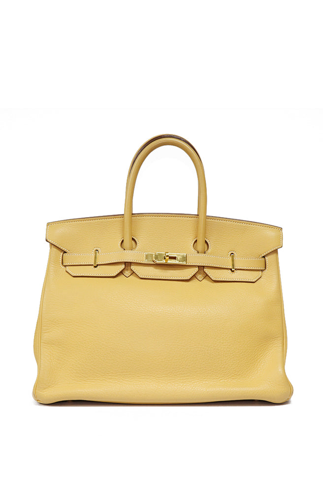 c0a33a4ccad Hermes Birkin 35 Clemence  98 Mustard Yellow – Reloved