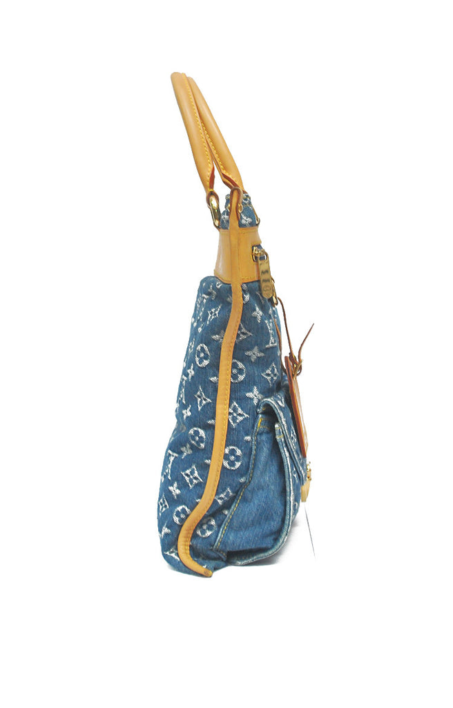 Denim Blue Flat Shopper