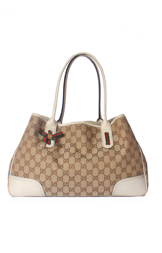 Guccissima Medium Princy Tote Silver