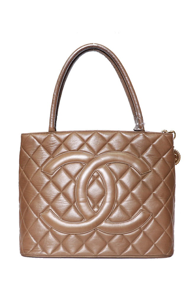 Chanel Medallion Tote - Brown