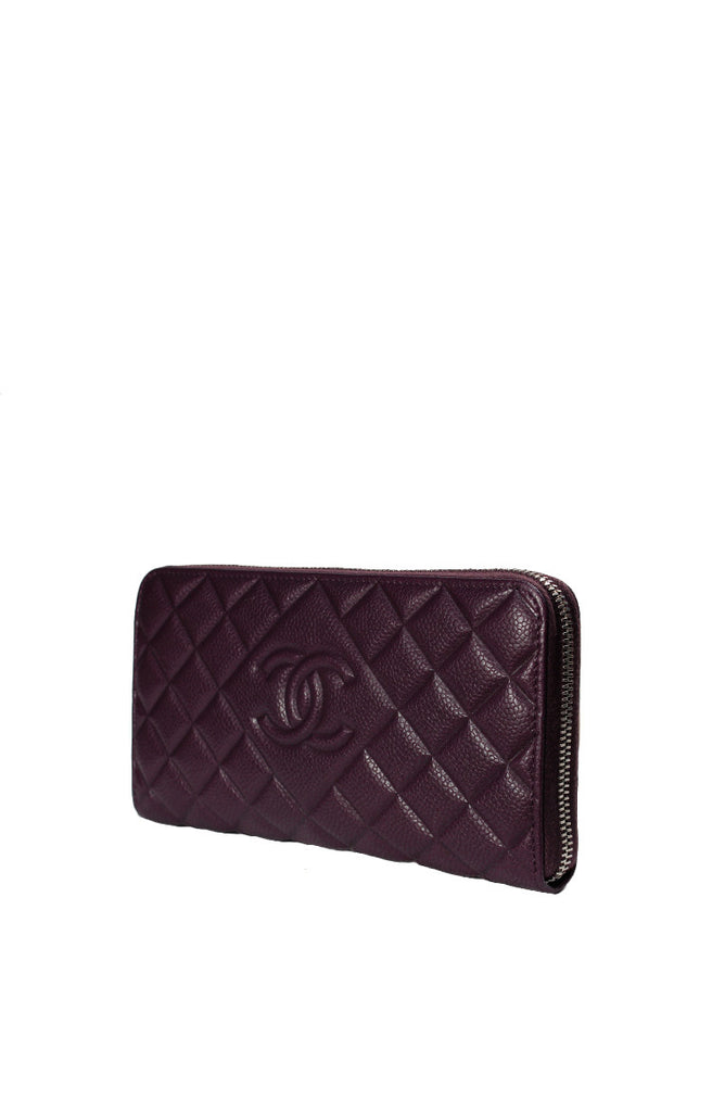 Chanel Zippy Wallet Caviar