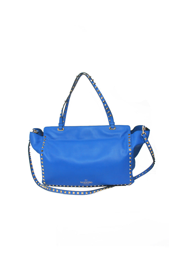 Rockstud Tote Medium with Strap in Blue