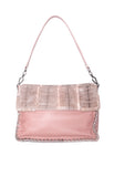Bottega Veneta Fold Over Convertible Shoulder Bag Leather with Python Med