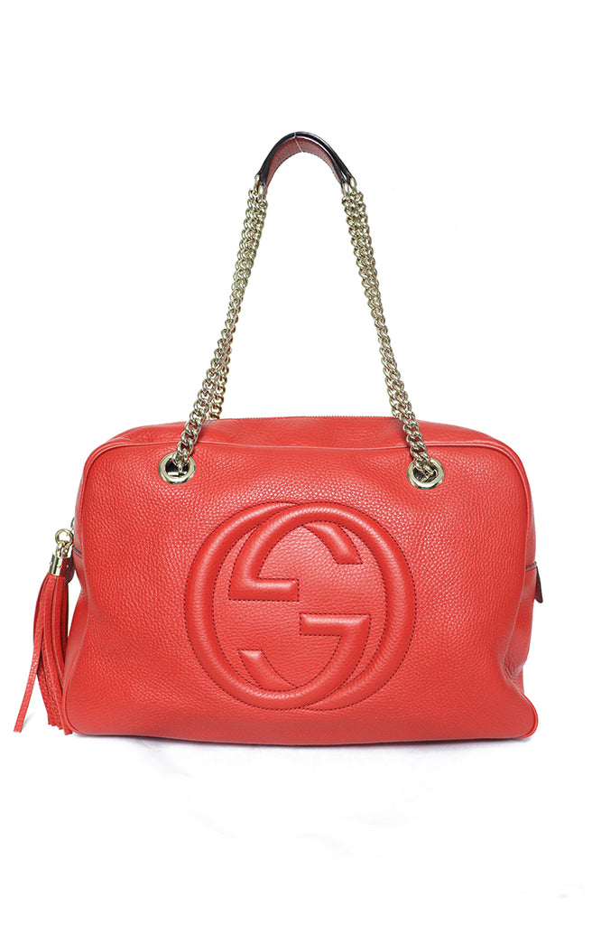 0172542f31036f Gucci Soho Leather Chain Shoulder Bag – Reloved