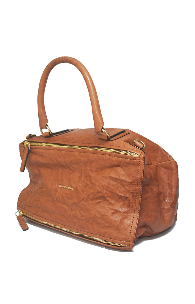 Pandora Distressed Large GHW with Strap - Brown