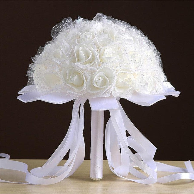 Artificial flower for wedding decoration artificial wedding bouquets artificial flower for wedding decoration artificial wedding bouquets home decoration accessories flower flores artificiales junglespirit