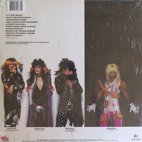 Mötley Crüe ‎– Theatre Of Pain - White Vinyl