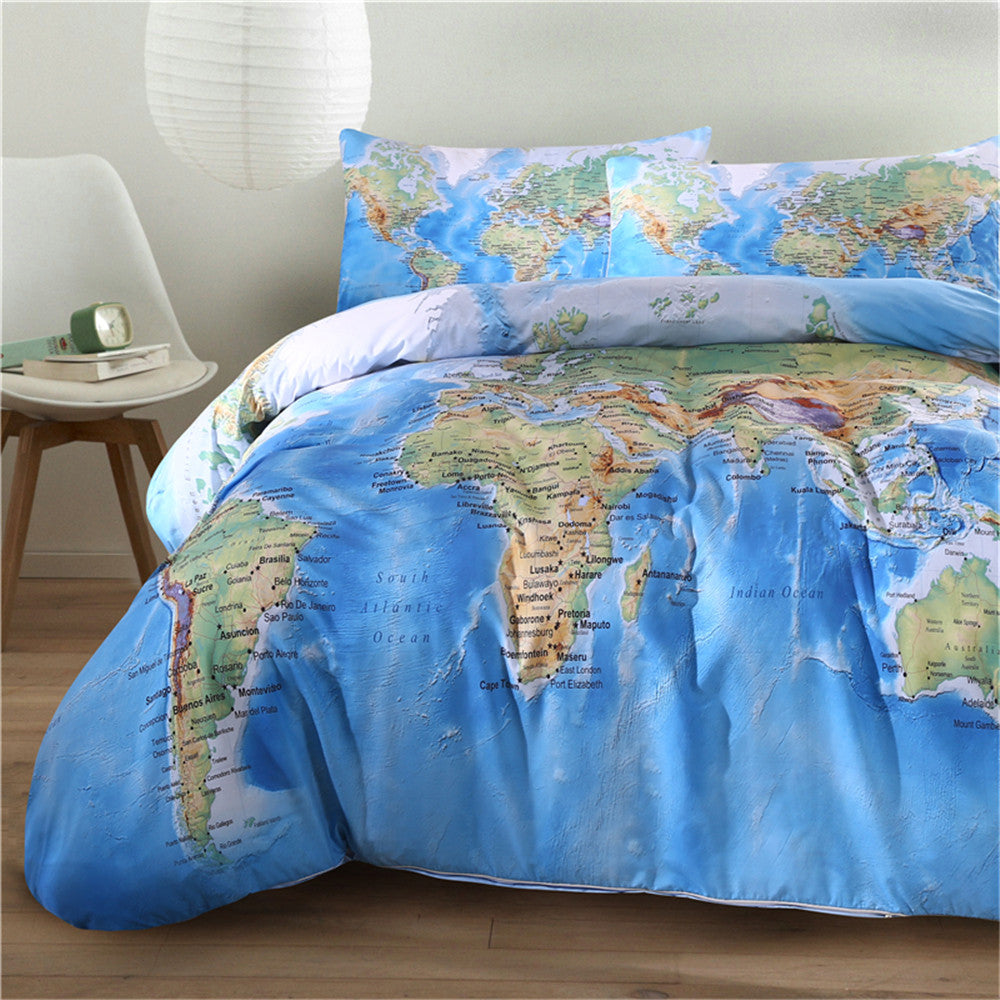 Bedding simply adore world map bedding set gumiabroncs Image collections