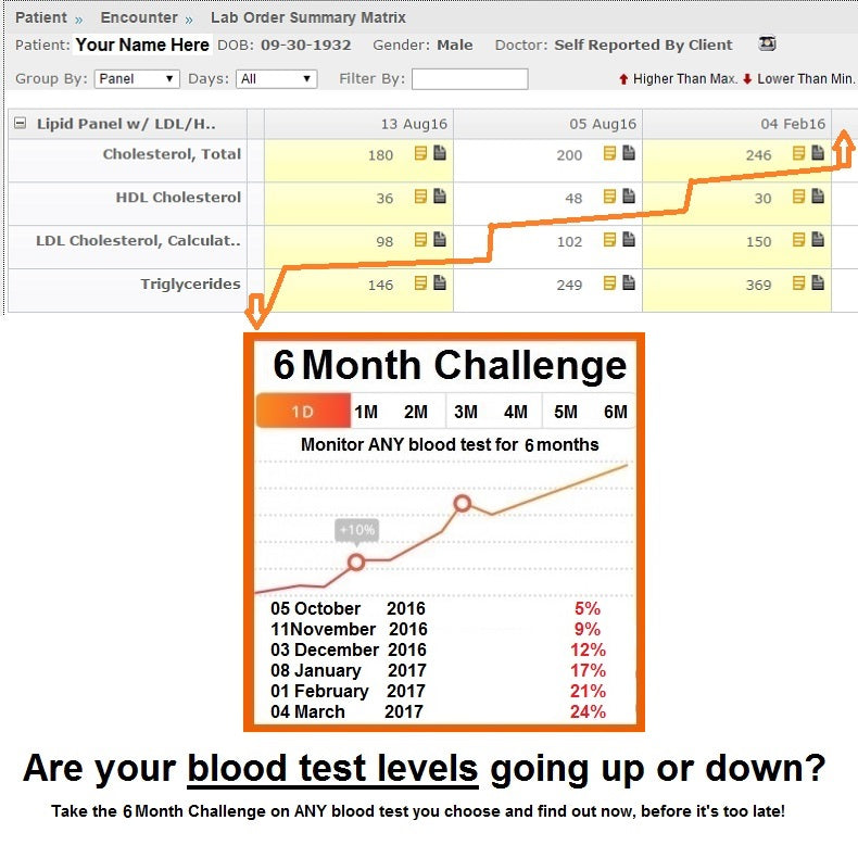6 Month Blood Test Challenge