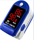 Pulse oxygen meter in blue