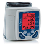 Blood pressure wrist monitor with color codes