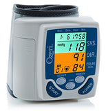 Blood pressure wrist monitor blue and orange codes