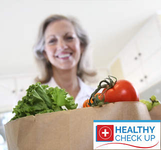 Eat healthy food and check your cholesterol with a blood test online