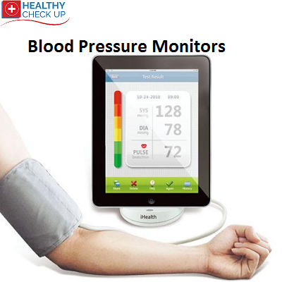 Blood pressure monitor for vital signs and a Healthy Check Up