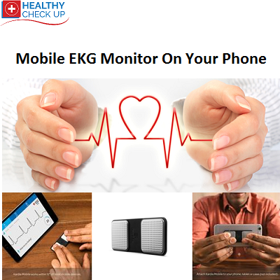 Mobile EKG Heart Rhythm Monitor On Your Phone