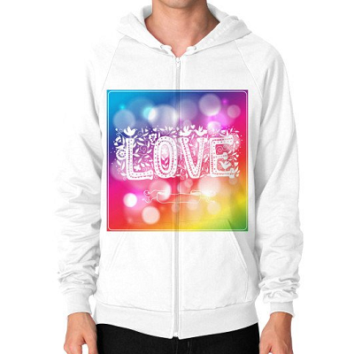 A Unique Gift Ideas With Love On A Hoodie