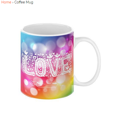 A Unique Gift Idea With Love On A Coffee Mug