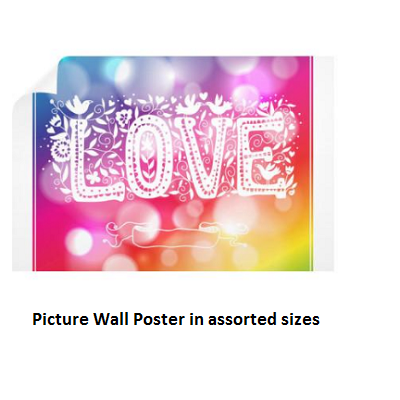 A Unique Gift Idea With Love On A Wall Poster