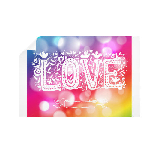 Horizontal Wall Decals With Love Sign