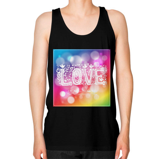 Jersey Tank Tops For Men With Love Sign